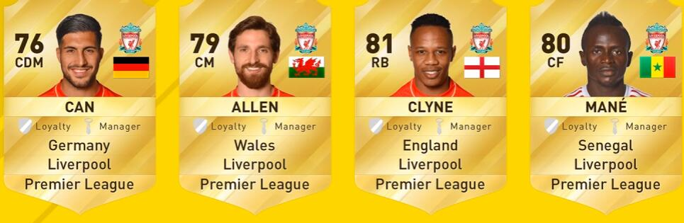 FIFA 17 Liverpool Player