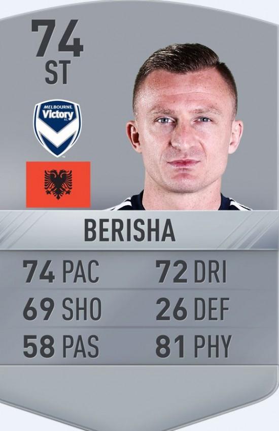 berisha fifa 17 card