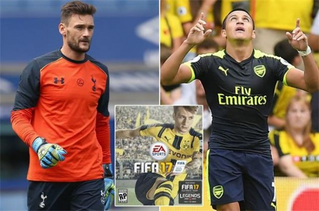 FIFA 17 ratings of Sanchez and Lloris