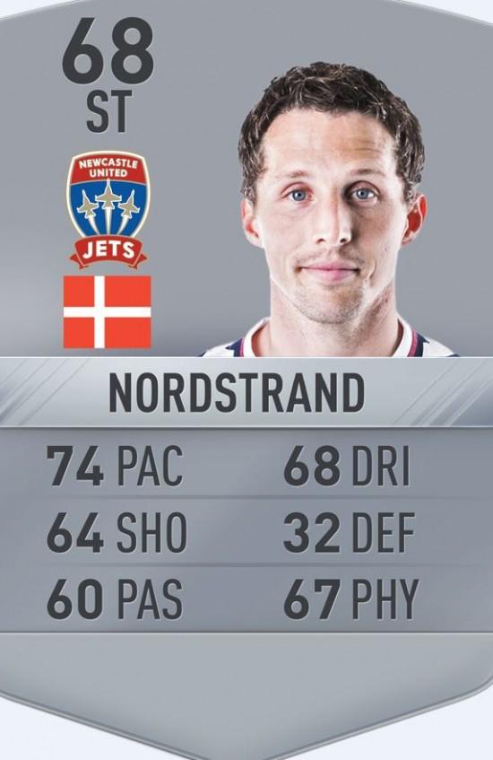 nordstrand fifa 17 card