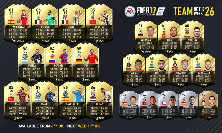 FIFA 17 TOTW 26